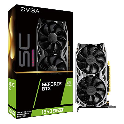 EVGA GeForce GTX 1650 Super SC Ultra Gaming, 04G-P4-1357-Kr, 4GB GDDR6, Dual Fan, Metal Backplate