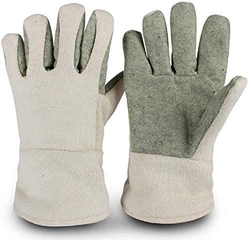 DHFDHD Guantes de soldador Soldadores guanteletes guantes lugar de trabajo Glove Fit for Mig/TIG Soldador/barbacoa/cocina/corte guantes de cuero de soldadura 500 ° guantes resistentes a altas