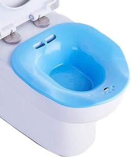 Baño asiento Baño inmersión perineal sobre el inodoro, para alivio hemorroides, para mujeres embarazadas, para ancianos, azul