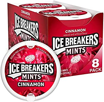 8-Pack Ice Breakers Cinnamon Flavored Sugar Free Breath Bulk Mint Candy