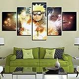 YUXIXI Naruto - Anime Composición De 5 Cuadros De Madera para Pared Decorativas para Salón, Comedor, Habitación, Dormitorio, Pasillo. Set De 5 Posters Modernos* 150 X 80 Cm*/