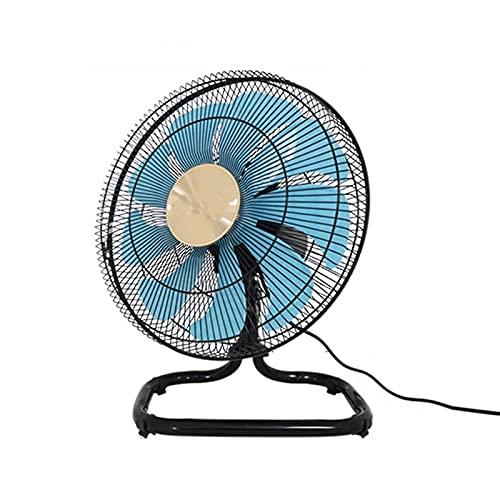 CHNG Ventilador de Piso de Alta Velocidad de 5 velocidades, 9 aspas de Ventilador de ABS, Ventilador de pie Industrial de Metal de Alta Velocidad, Base Estable (Color: 14 Pulgadas)