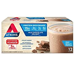 One box of 12 Milk Chocolate Delight Protein-Rich Shakes Delicious, creamy milk chocolate flavor With 15 grams of high quality protein and 5 grams of fiber per serving to provide steady energy and satisfy hunger 2 grams net carbs and 1 gram of sugar ...