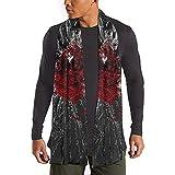Explosión Bufanda con estampado de corazón rojo Bufandas largas de moda Bufanda cálida grande Chal para mujeres/hombres