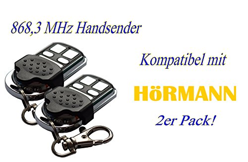 2 x Schartec Handsender 868 MHz für Hörmann und Marantec Garagentorantriebe. Ersetzt HSM 4 HSE 2 HS 4 HSP HSD Digital 302-304 - 313-321