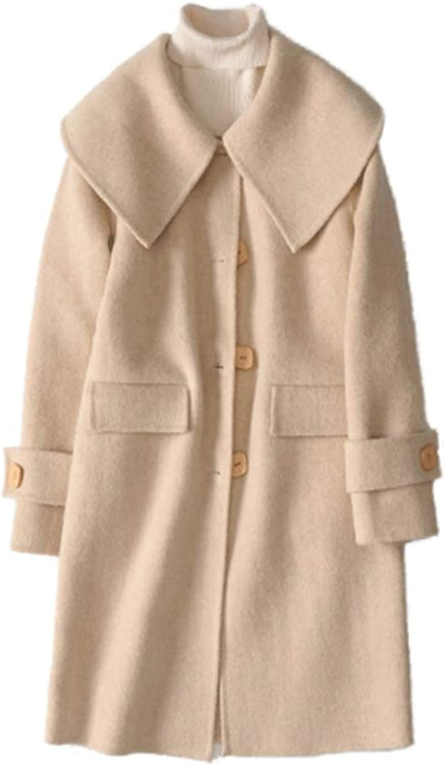 CG Women's Classic Wool Blend Peacoat Winter Outdoor Single Breasted Jacket 01688