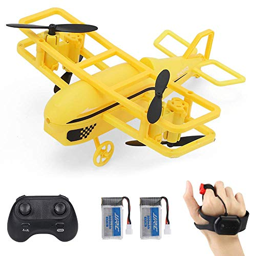 LNHJZ H95 Mini Drone para niños, cuadricóptero RC operado por detección de Gestos con Control Remoto, Giro 3D, Modo sin Cabeza, retención de altitud, Toma/Aterrizaje/Retorno de una tecla y Ajuste d