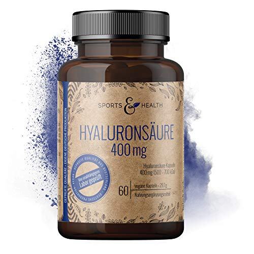 Hyaluron Kapseln Hochdosiert Aus Bester Qualität 400 mg Fermentiert Als 60 Vegane Kapseln Für Gelenke, Haut Und Anti Aging