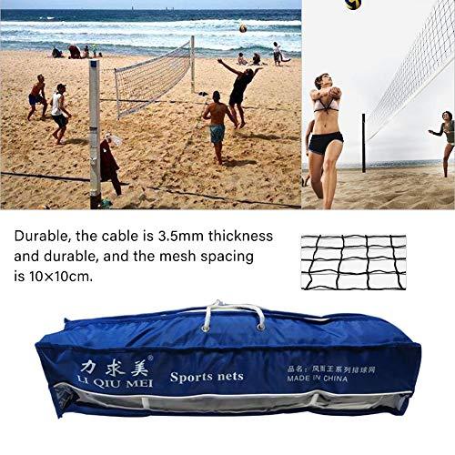 CampHiking Rete da pallavolo con Il Sacchetto di immagazzinaggio, Rete Professionale di Beach Volley della Concorrenza della Maglia del PVC per dell\'interno dell\'interno