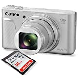 Canon PowerShot SX730 HS Digital Camera (Silver) W/Basic Bundle, 16GB