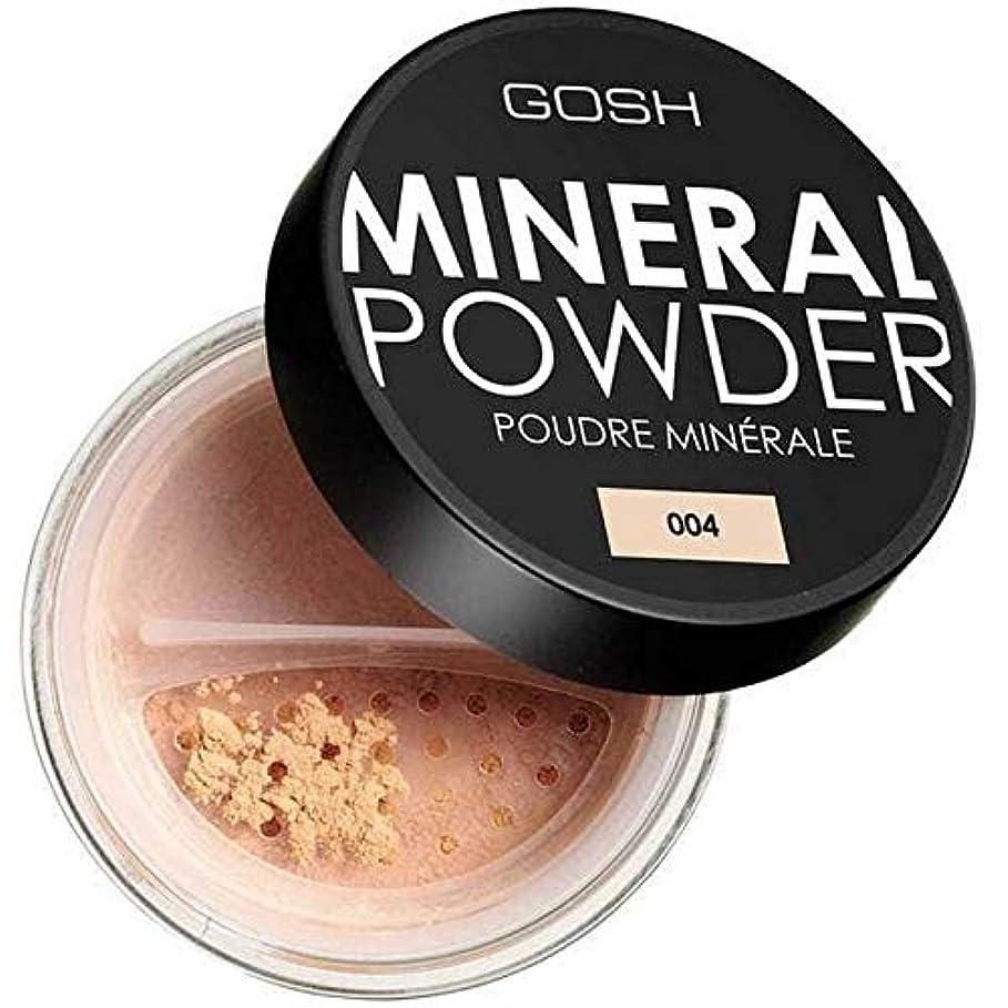 手数料氏フルーティー[GOSH ] おやっミネラルフルカバーファンデーションパウダーナチュラル004 - Gosh Mineral Full Coverage Foundation Powder Natural 004 [並行輸入品]