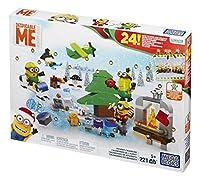 Combina con altri set di giochi Mega Bloks Minions per costruire la tua avventura Minion Personaggi Minion costruibili con parti intercambiabili tra cui occhiali, braccia, piedi e abiti da festa 24 Holiday-Themed Surprises