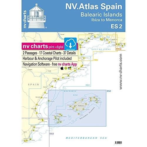 NV.Atlas Spain Cabo San Antonio to Cabo Creus ES 1 | Seekarte Spanien Papier & Digital [ NV Verlag / nv charts]