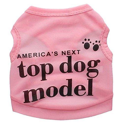 Merssavo Rosa Cool Pet Sommer Kleidung Welpen Hund Katzen Westen T-shirt Mantel Kleid Rock Bekleidung Rose Größe: M