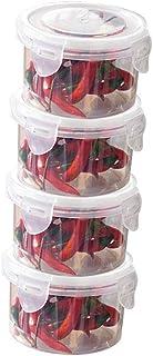 Ensemble contenants Alimentaires 4,1000 ML en Plastique hermétique avec Couvercle,organisateurs Rangement Cuisine Transpar...