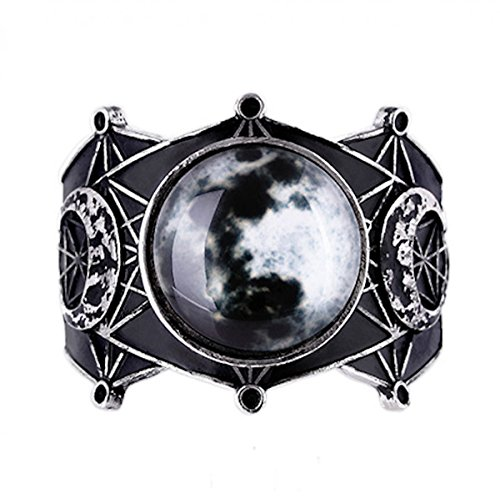 Dark Dreams Gothic Nugoth Armreif Armband Spange Bracelet Pentagramm Schlange Witchy Pagan