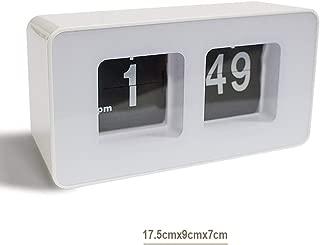 zinnor Auto Flip Classic Desk Wall Clock, Retro Digital Desk Table File Down Page Clock, White Best-mall Stylish Modern Retro