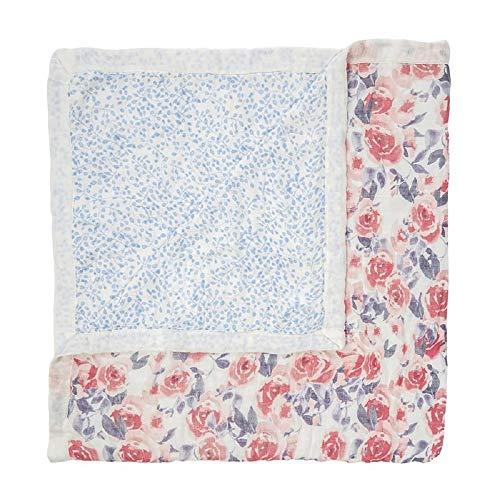 aden + anais Silky Soft Dream Blanket, White Label, Watercolor Garden