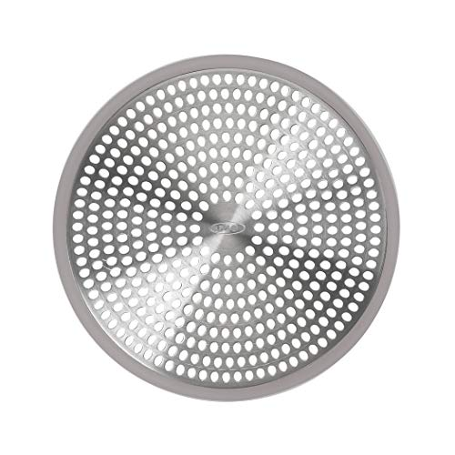 OXO 1288100 Good Grips Easy Clean Shower Stall Drain Protector - Stainless Steel & Silicone