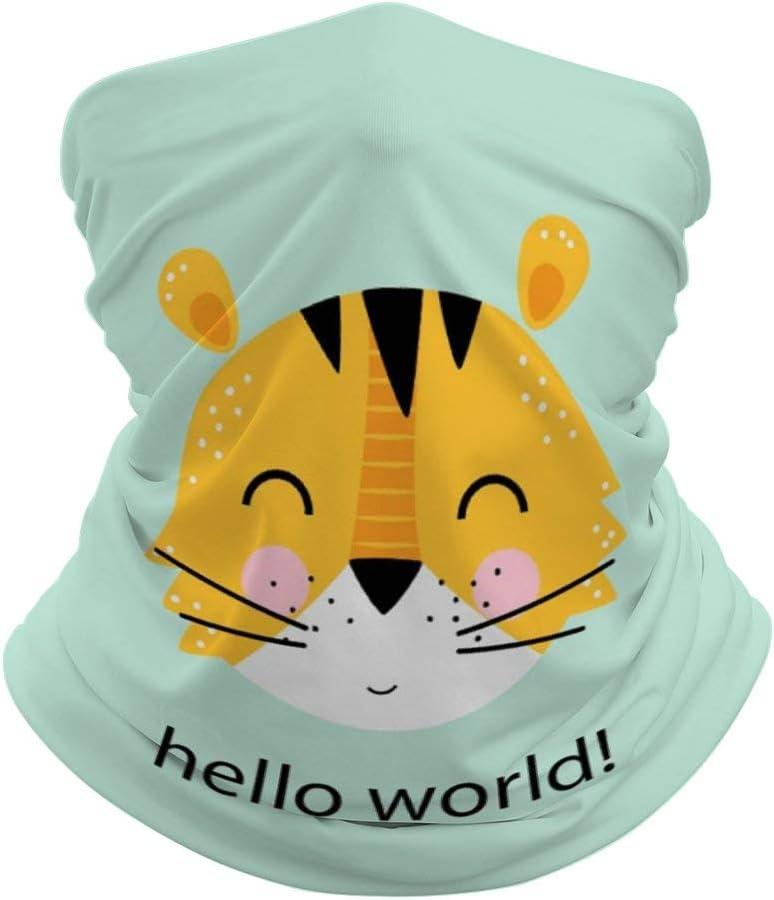 Pasamontañas de protección media cara, bufanda, máscara de dibujos animados de animales, polaina, cuello de tigre, máscara resistente al viento