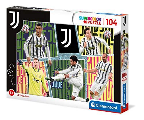 Clementoni- Supercolor Puzzle-Juventus-104 Pezzi-Made in Italy, Puzzle Bambini 6 Anni+, Multicolore, 27542