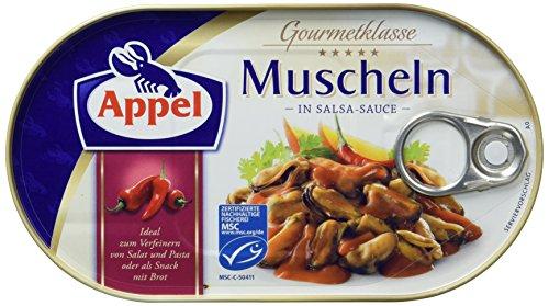 Appel Muscheln in Salsa-Sauce, 8er Pack Konserven, Muscheln in Salsasauce