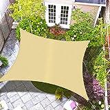 Desconocido Toldo Vela de Sombra - Toldo Vela de Sombra Jardín - Toldo Vela de Sombra Patio - Toldo de Vela Solar, 90% Resistente UV, Respirable (3 x 4)