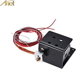Anet MK8 Extruder Kit for Anet A8 3D Printer, i3 Extruder Set Including - Extruder Motor, Cartridge Heater Tube, Thermistor, Throat Tube, and 0.4mm Nozzle, Hot end Kit - Black