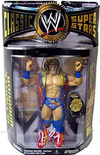 WWE Wrestling Classic Superstars Series 12 tion Figure Ultimate Warrior With Duster by Jakks