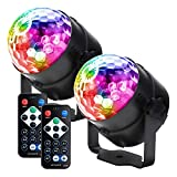 Party lights Disco Ball LED Strobe Lights Sound Activated, RBG Disco lights,dj lights,Portable