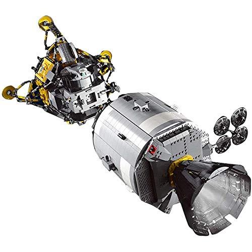 Technik Apollo 11 Raumschiff Modell, Mould King 21006, 7011 Klemmbausteine Raumstation Bauset, DIY Spielzeug Spaceship Konstruktionsspielzeug Bauset Kompatibel mit Lego TechnikSilver-Apollo spacecraft
