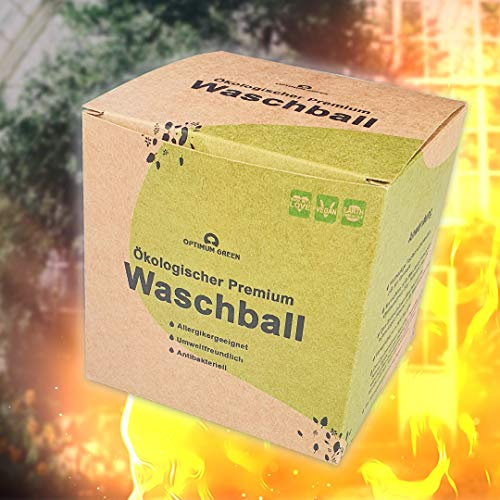 OptimumGreen® ökologischer Premium Waschball [ neues innovatives Design   SmartGreen-Formel   NoNopp-Technologie ]]