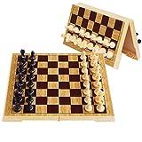 HJSP Juego de ajedrez de Madera Plegable magnético de ajedrez magnético Set de plástico del Tablero de ajedrez magnético de Piezas Entretenimiento Juegos de Mesa