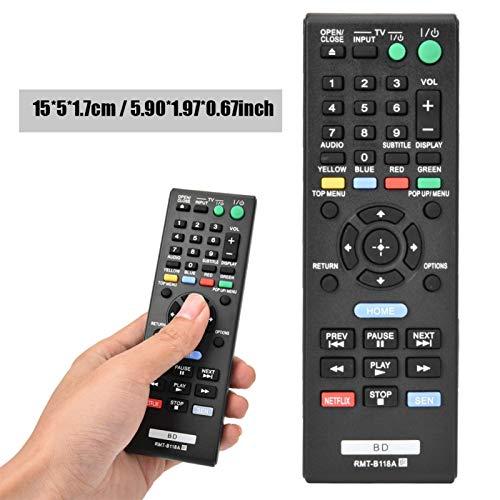 xiji Control Remoto de bajo Consumo de energía, Material ABS, Control Remoto de TV, para Reproductor de BLU-Player RMT-B118A, Reproductor de DVD para el hogar