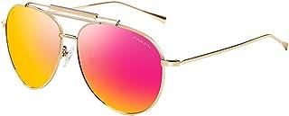 Polarized Aviator Sunglasses for Men Women PARZIN Vintage Metal Frame Driving Beach Sunglasses 100% UV Protection PZ8085