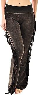 Women's Fringe Leg Mineral Wash Yoga Pants