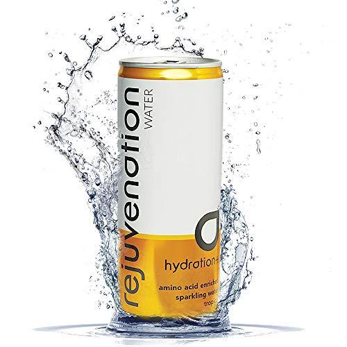 Rejuvenation Water Regenerationsgetränk - Tropisches Sprudel Mineralwasser mit Aminosäuren, pflanzlichem Protein und Elektrolyte - 12 x 250 ml