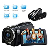 Videocámara Full HD Camara de Video 1080P 30FPS 24.0MP Vlogging Camera Macro Focusing 3 Inch Touch Screen Camara Fotos con Control Remoto