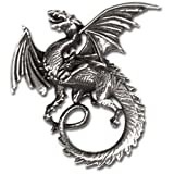 Alchemy peltre para mujer colgante collares Alchemy Gothic Whitby Wyrm Dragon colgante/collar plateado