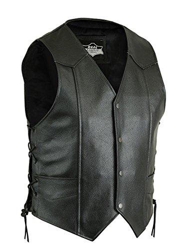 Star Leather - Chaleco - para Hombre Negro Negro (XXXXXL