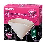 HARIO(ハリオ) V60用ペーパーフィルター 1-2杯用 100枚入り みさらし 日本製 VCF-01-100MK