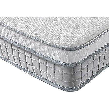 Vesgantti Boxtop Matelas 24cm Épaisseur Ressort Ensachés en Mousse Mémoire de Forme 7 Zones de Confort CertiPUR-US (Mode, 120x200)