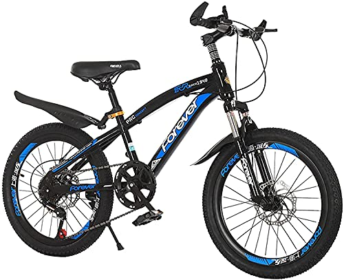 YAOJIA strider kids bike Children's Outdoor Bicycle With Mudguard And Stand | Suitable For Boys And Girls Aged 7-14 | Multiple Colour (Color : Blue, Size : 18in)