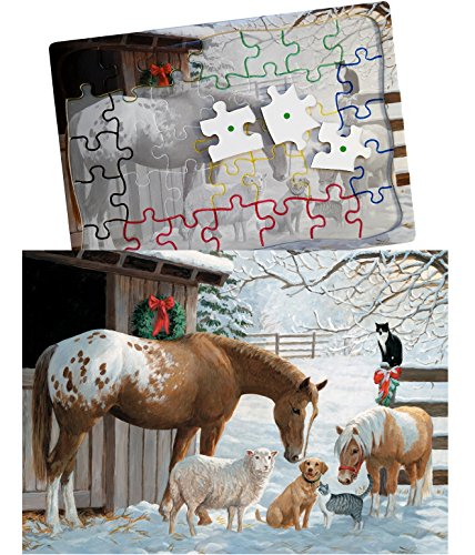 Keeping Busy Barnyard Greetings 35 Piece Sequenced Jigsaw Puzzle Engaging Activities/Puzzles/Games for Dementia and Alzheimers by Keeping Busy for Older Adults