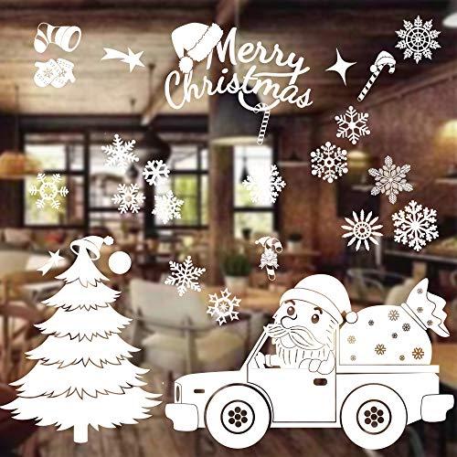 Natale Vetrofanie Addobbi,Natale Vetrofanie Rimovibile Adesivi,Decorazione Vetrina Wallpaper Adesivi,Rimovibile Adesivi Statico,Natale Adesivi vetro