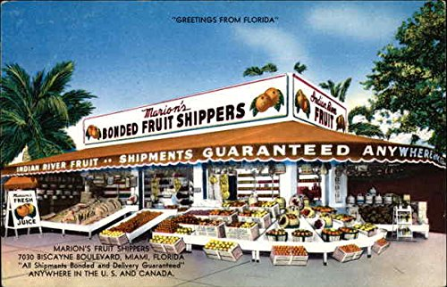 Marion's Fruit Shippers Miami, Florida FL Original Vintage Postcard