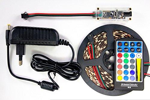 LED-box WS2812B LED-basic controller met voeding afstandsbediening 1m strip met 60 LED's zwart