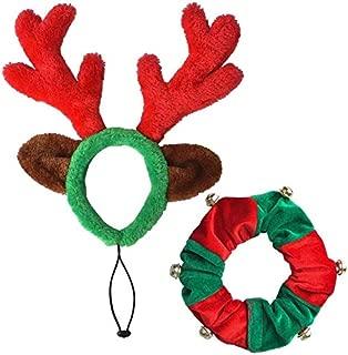PUPTECK Christmas Reindeer Antlers Headband Dog Costumes Accessories