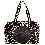 LOLA CASADEMUNT Bolsa Weekend Animal Print Leopardo Centro Logotipo Cierre Cremallera