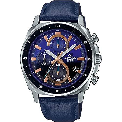 Reloj Edifice Caballero Correa Piel Azul
